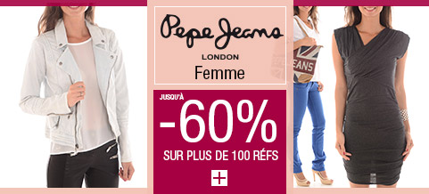 PEPE JEANS FEMME -60%