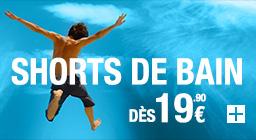 Short de bains dès 19.90€