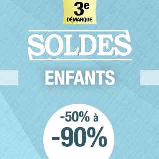 SOLDES ENFANTS DE -50 A -80%