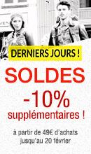 SOLDES - 10% supp