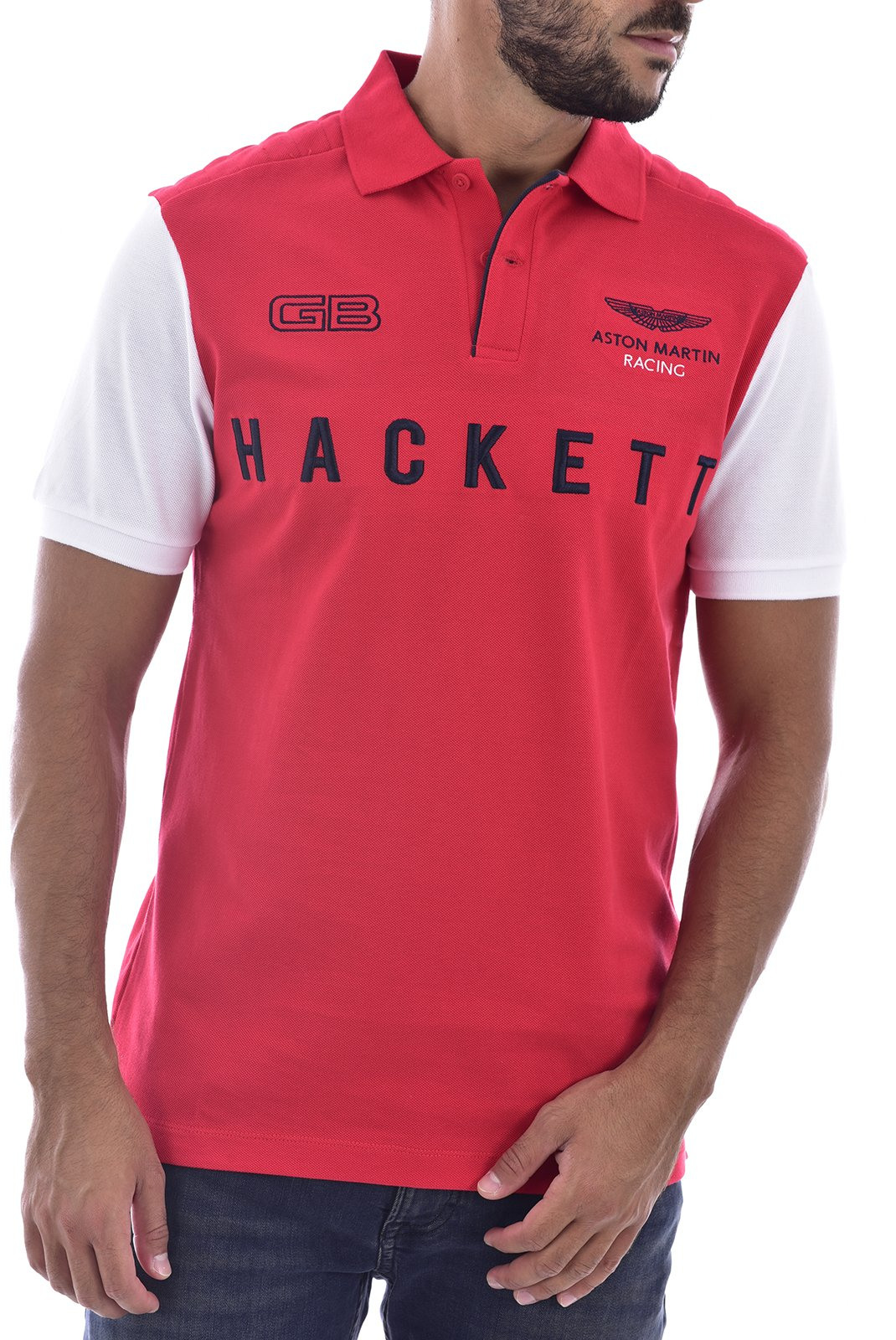 Polos  Hackett london hm5626782 AH ROUGE