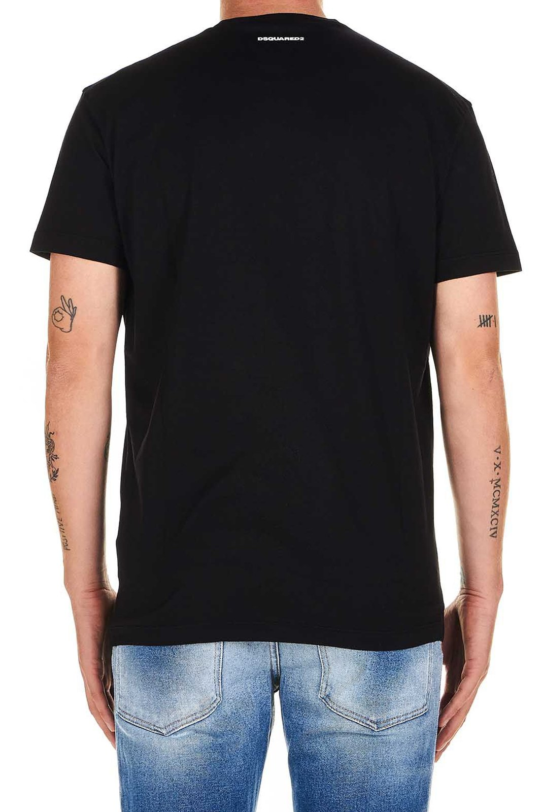 Tee-shirts  Dsquared2 S74GD0704 900 BLACK