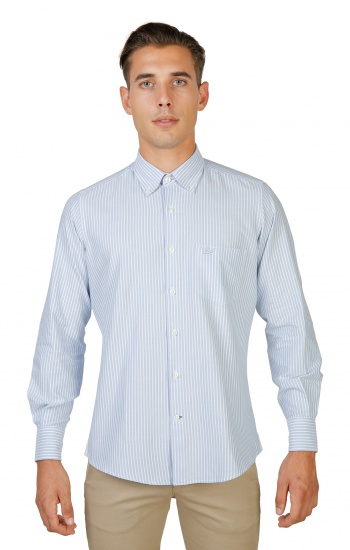 Chemises   Oxford University OXFORD_SHIRT-BD blue