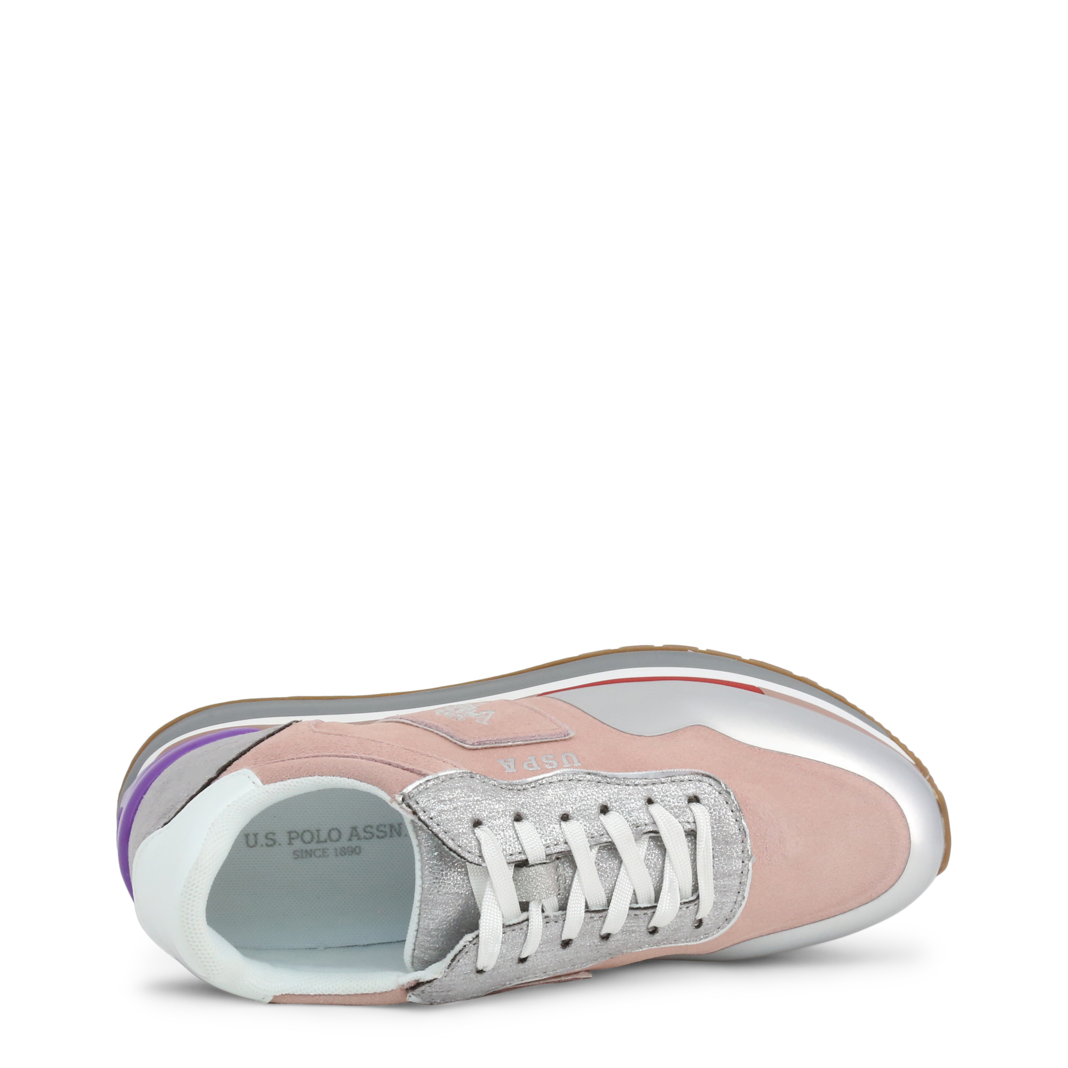 Baskets / Sneakers  U.S. Polo Assn. CHER4195S0_SY1_PINK-SIL pink