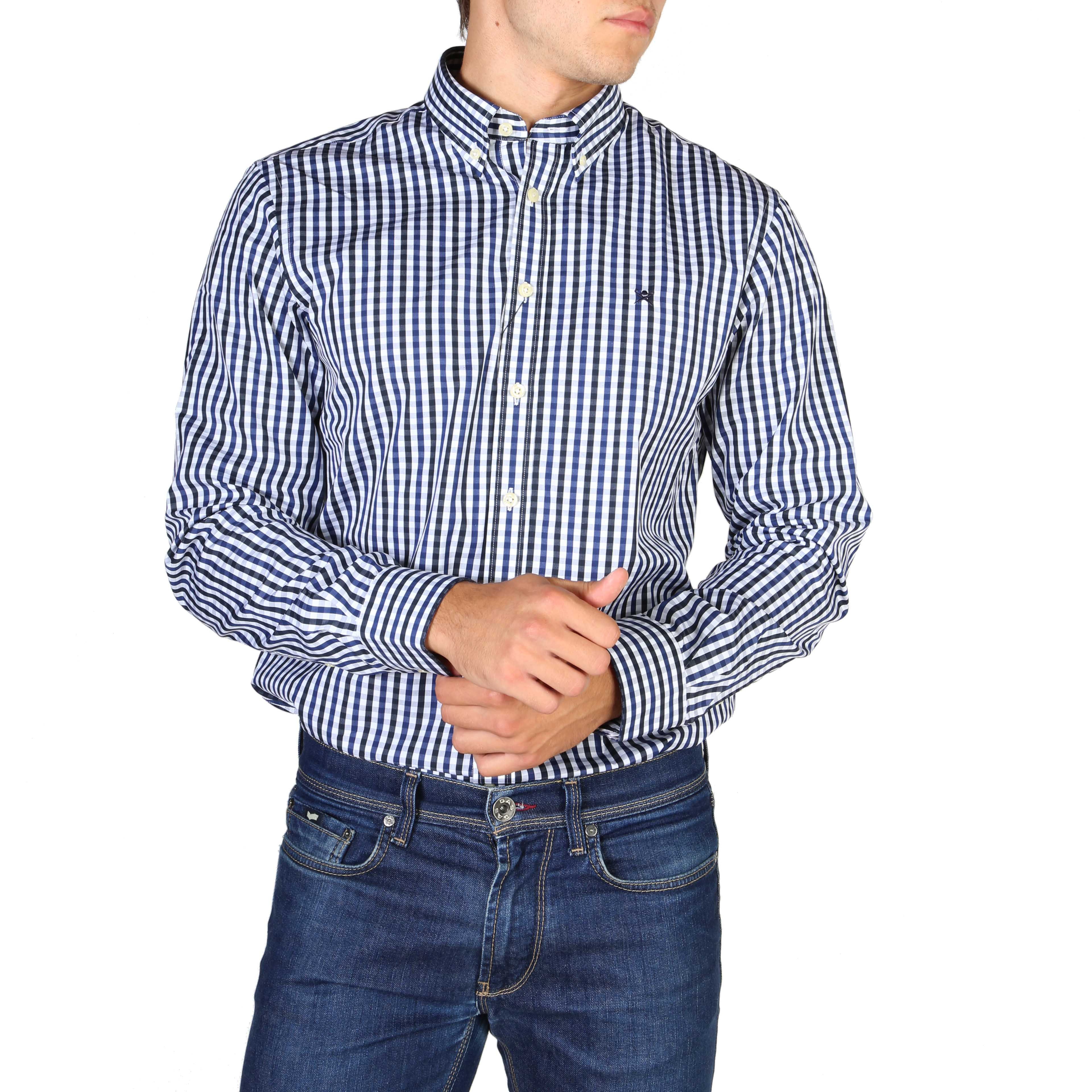 Chemises manches longues  Hackett HM305379_595 blue