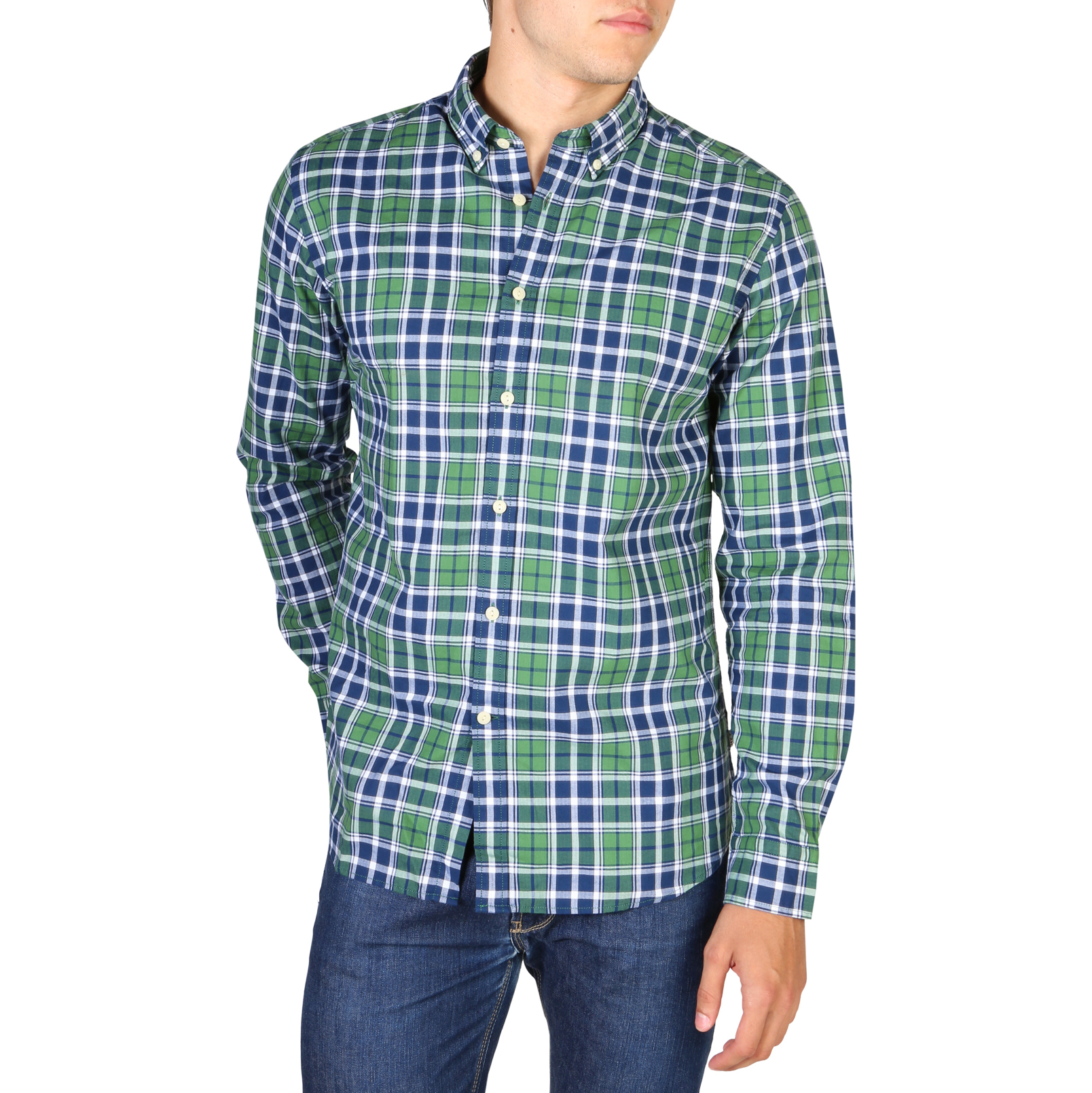 Chemises manches longues  Hackett HM307927_6A6 green