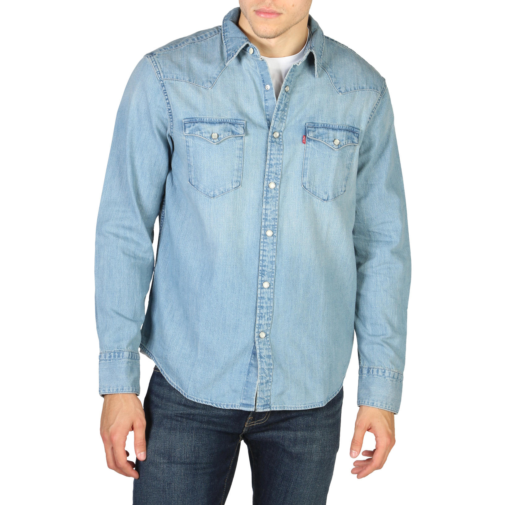 Chemises manches longues  Levis 85744-0001_BARSTOW-WESTERN blue