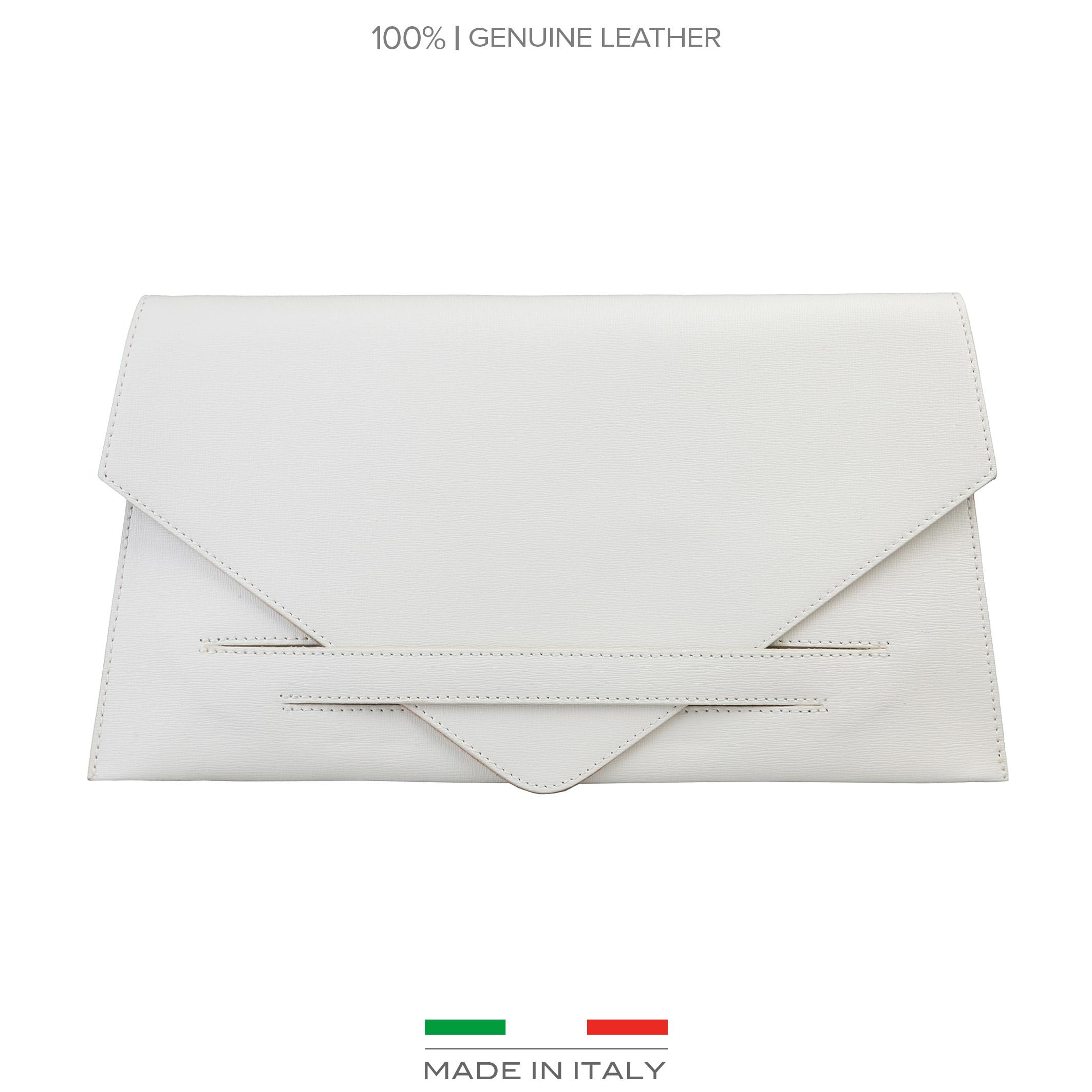 Maroquinerie  Made in Italia COSTANZA white