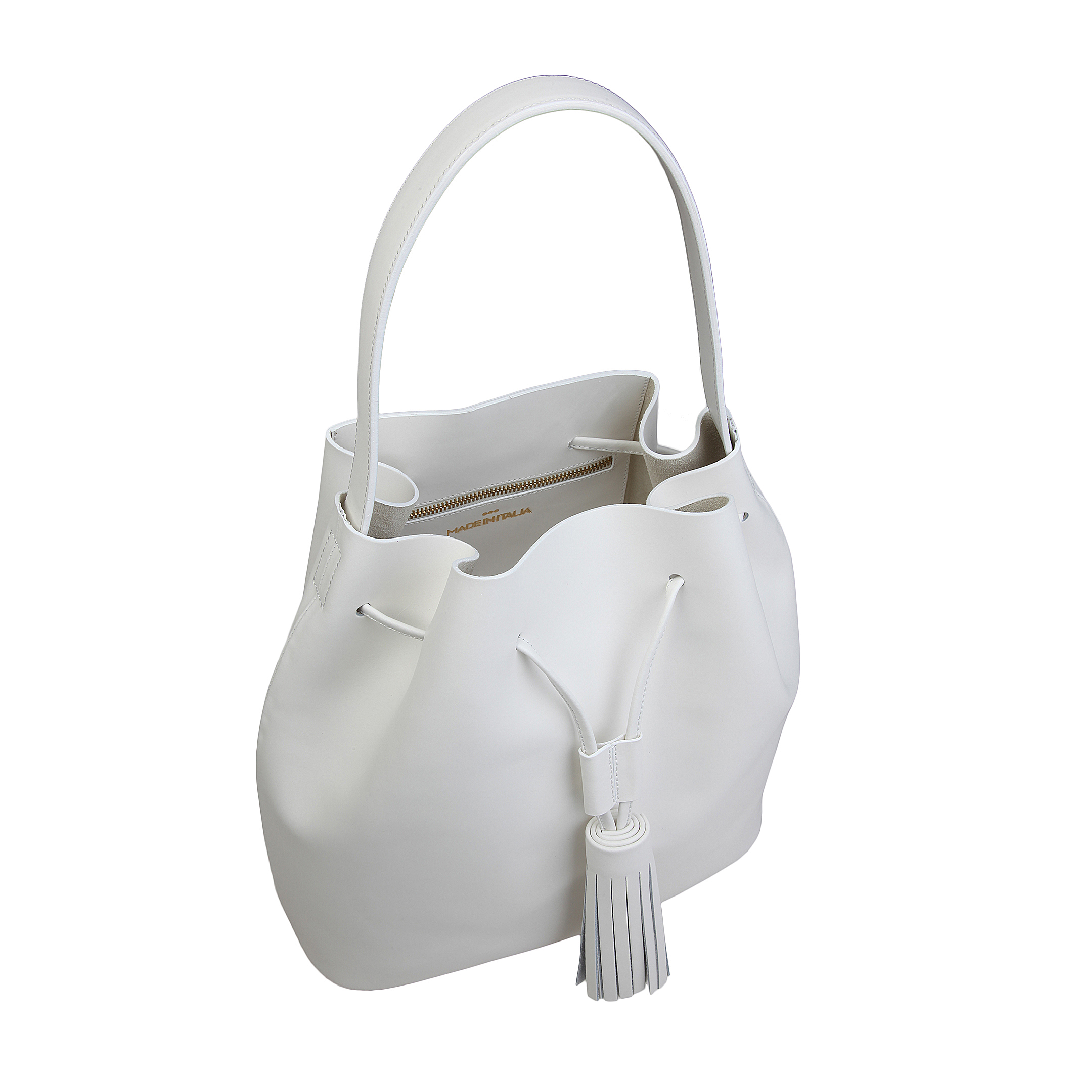 Besaces / Sacs bandoulière  Made in Italia ESTER white