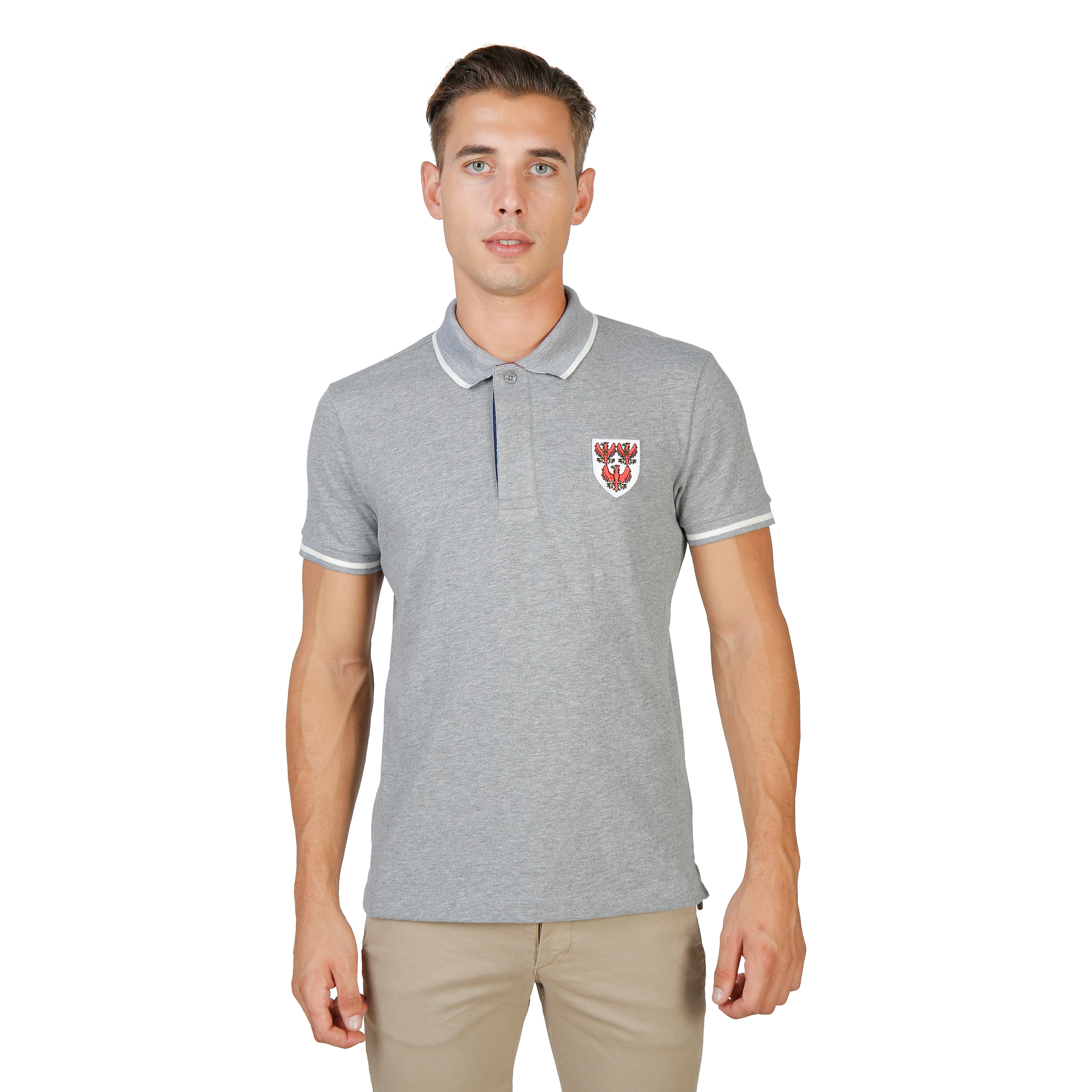 Polos  Oxford University QUEENS-POLO-MM grey