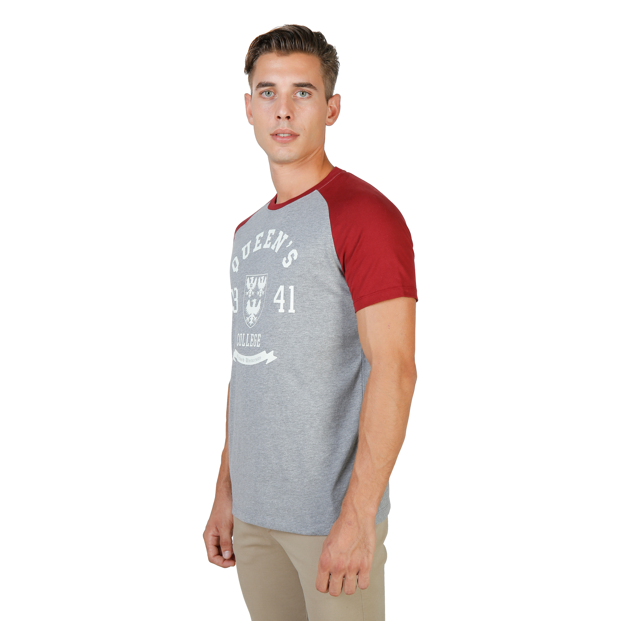Tee-shirts  Oxford University QUEENS-RAGLAN-MM red
