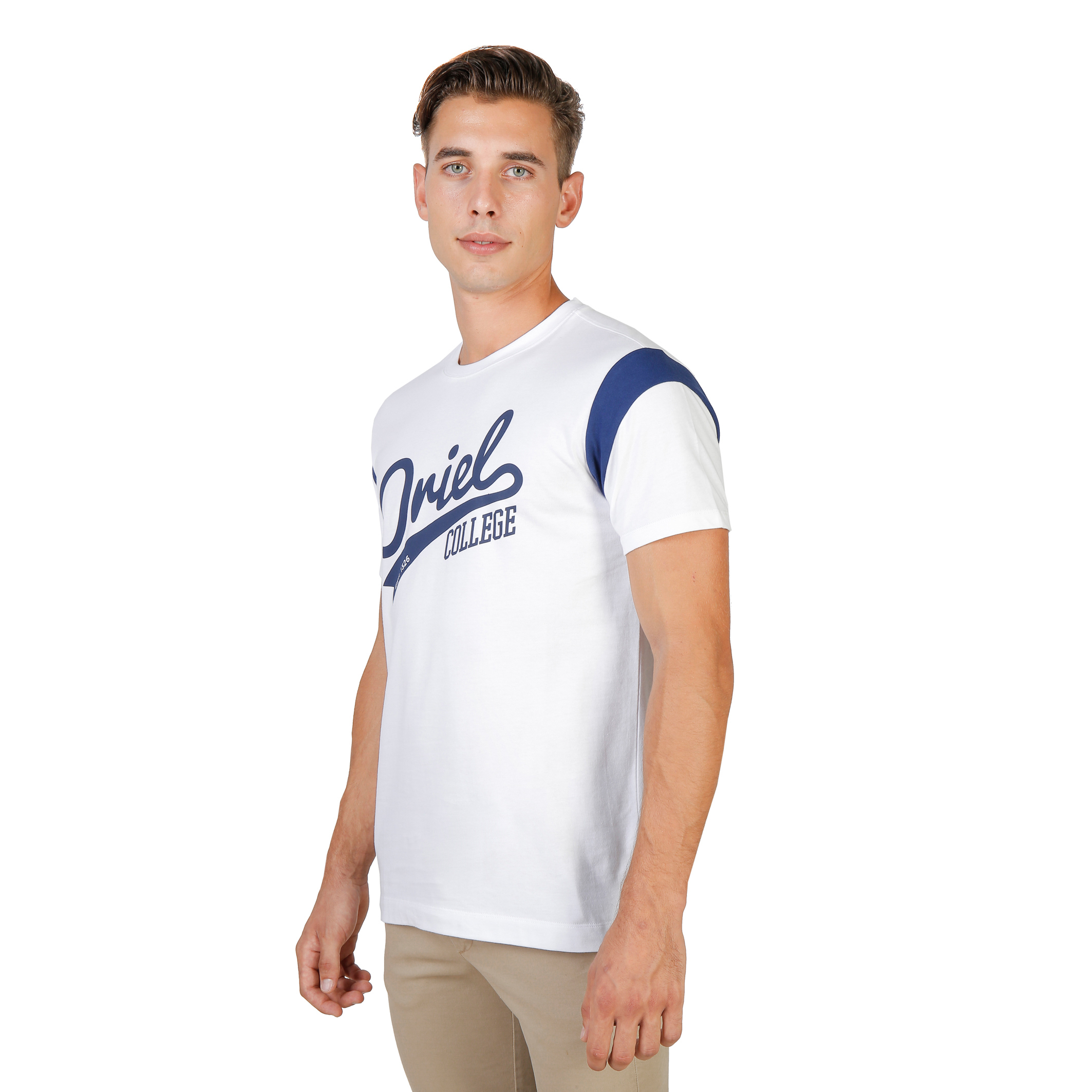 Tee-shirts  Oxford University ORIEL-VARSITY-MM white