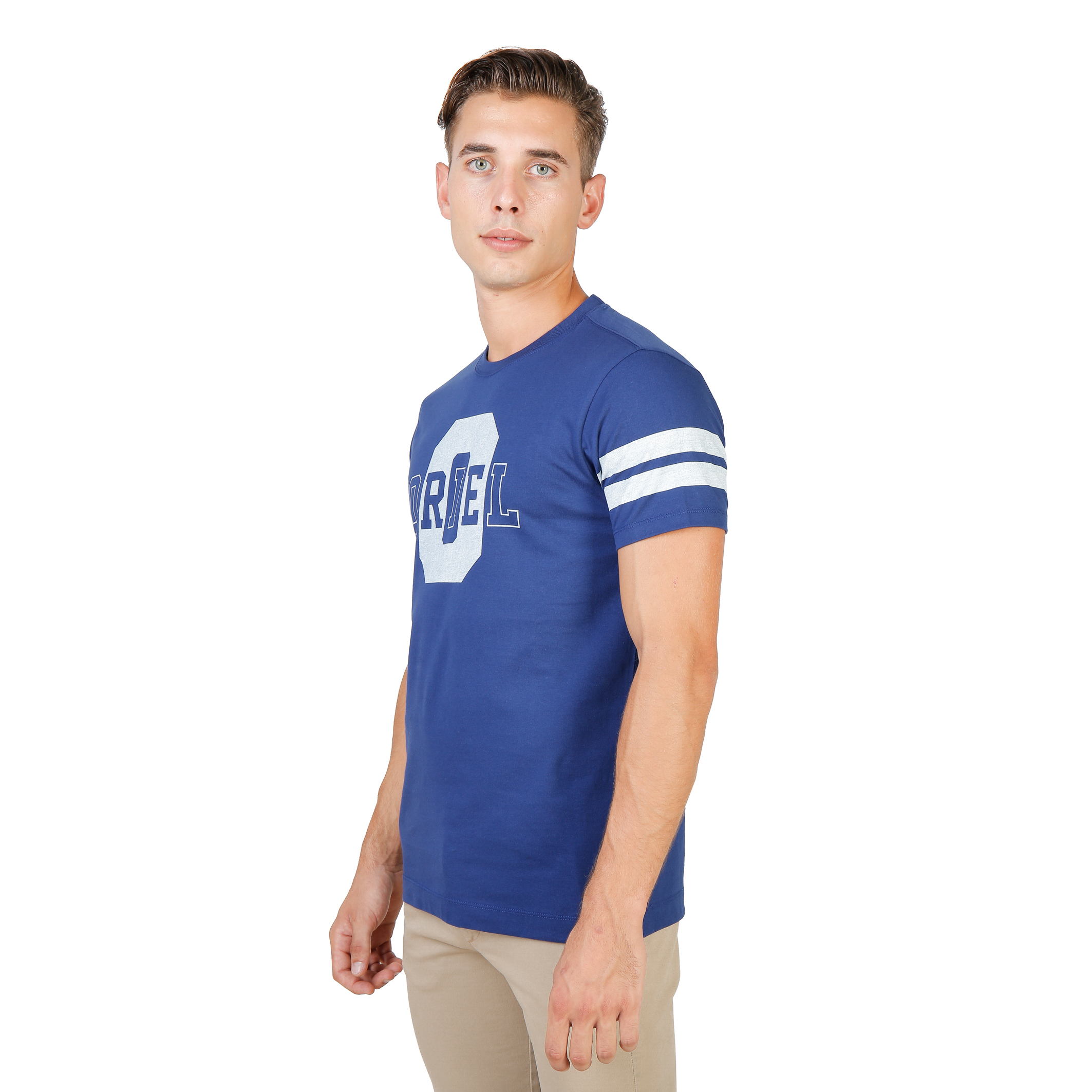 Tee-shirts  Oxford University ORIEL-STRIPED-MM blue