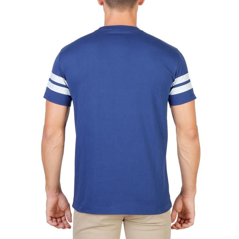 Tee-shirts  Oxford University ORIEL-STRIPED-MM blue
