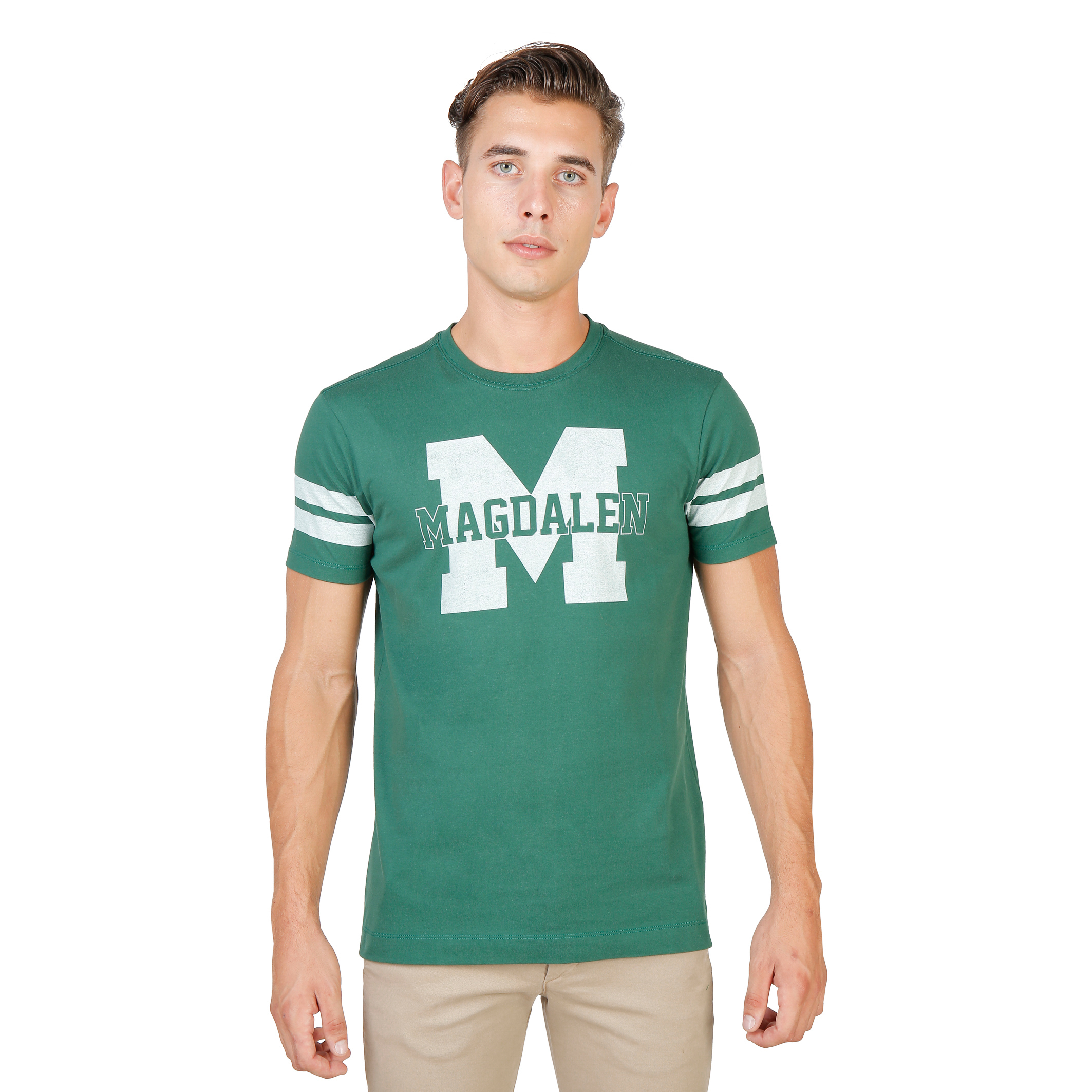 Tee-shirts  Oxford University MAGDALEN-STRIPED-MM green