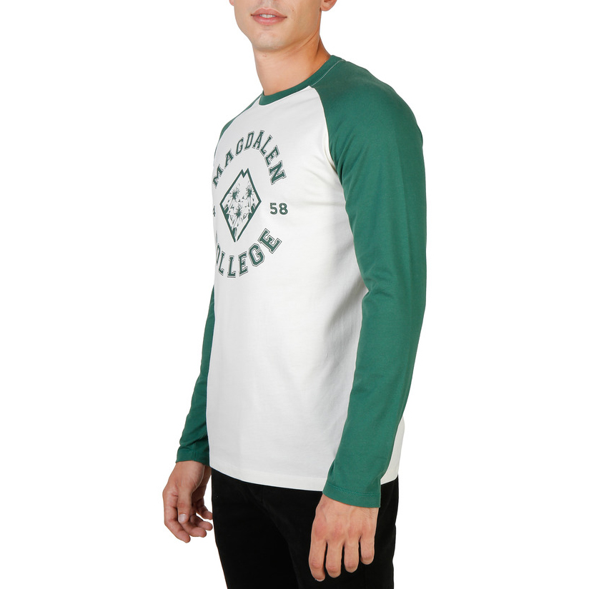 Tee-shirts  Oxford University MAGDALEN-RAGLAN-ML green