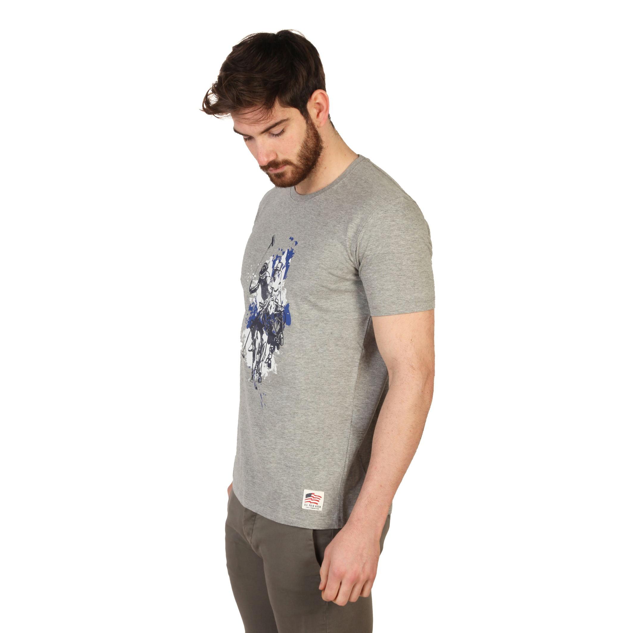 Tee-shirts  U.S. Polo 43693_49351 grey