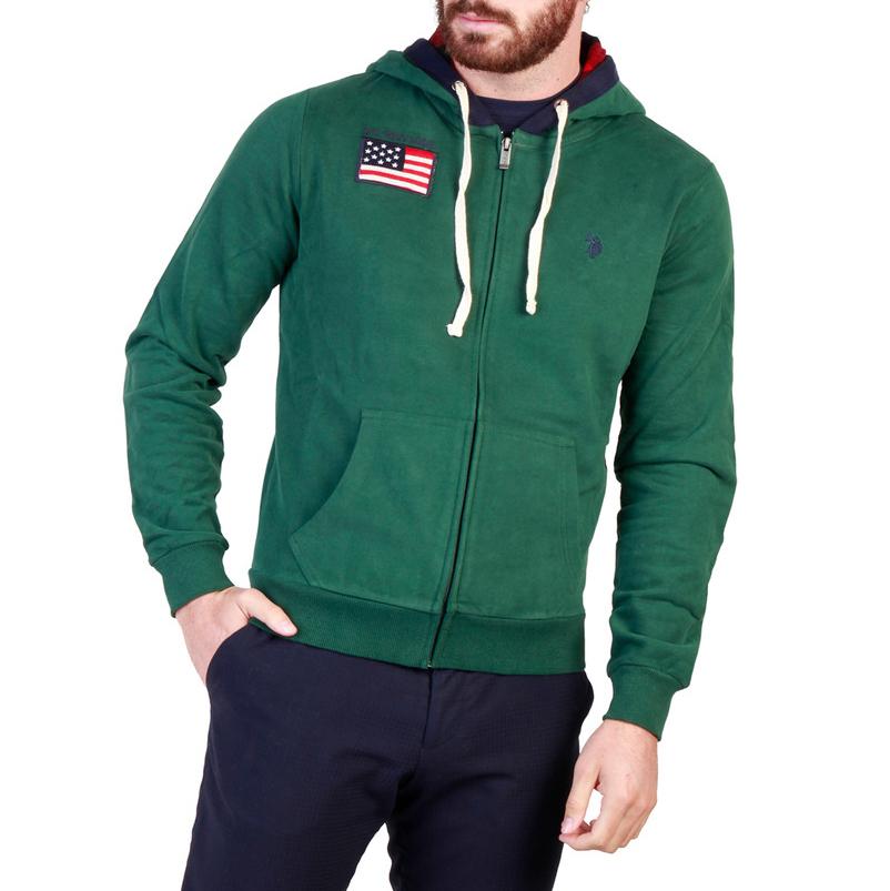 Vestes zippées  U.S. Polo 43482_47130 green