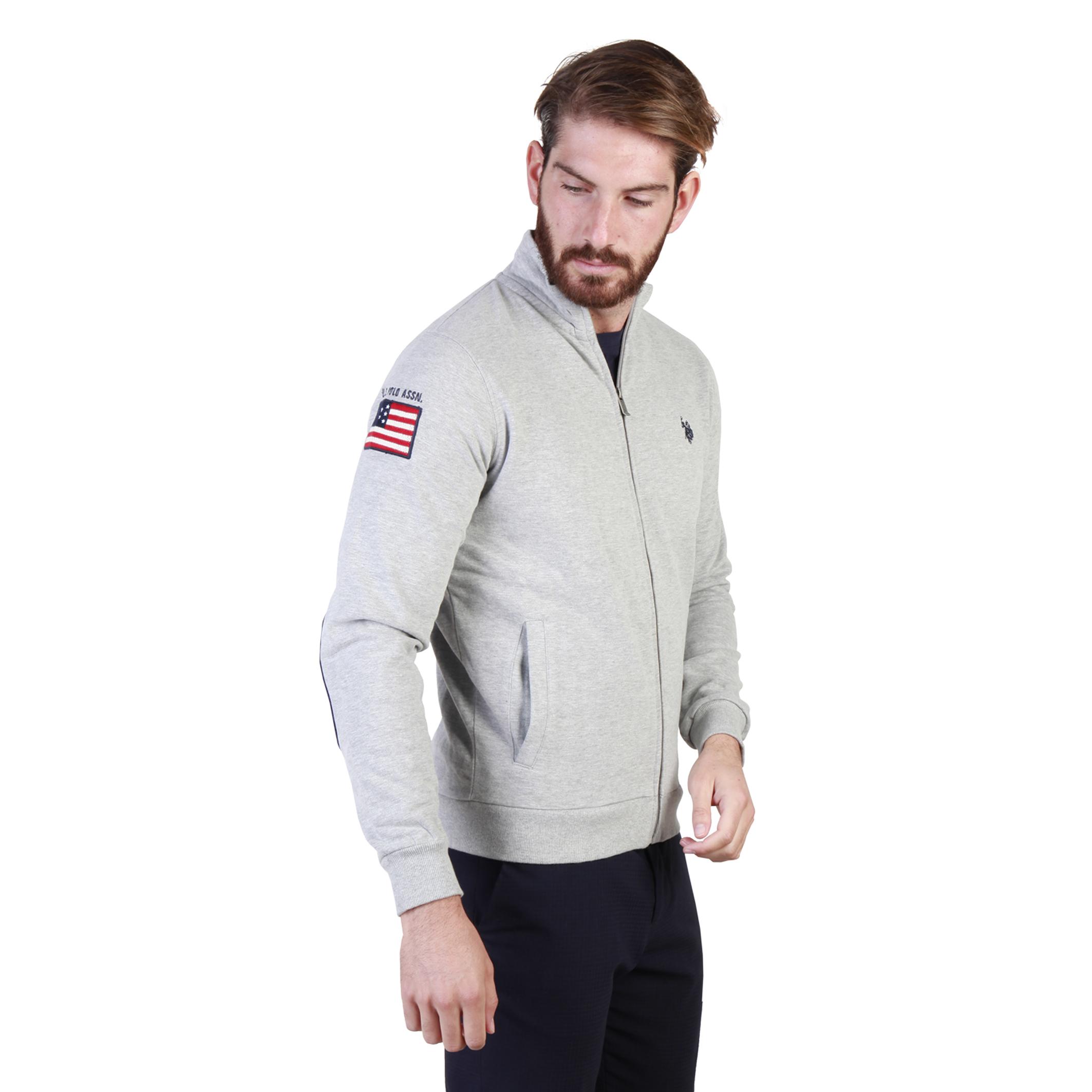 Vestes zippées  U.S. Polo 43485_47130 grey