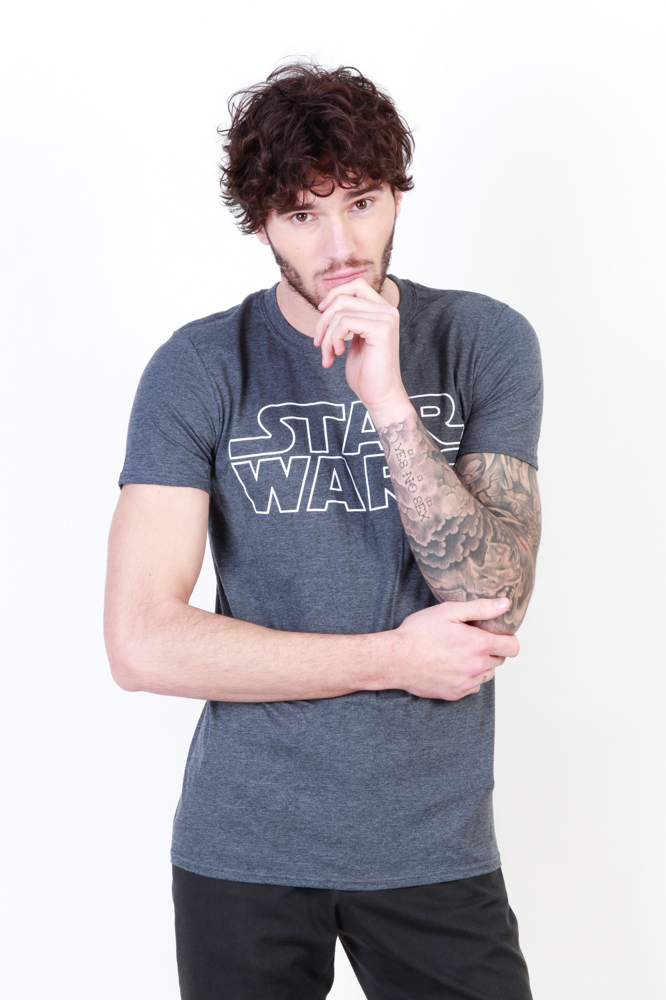 Tee-shirts  Star Wars FAMTS497 grey