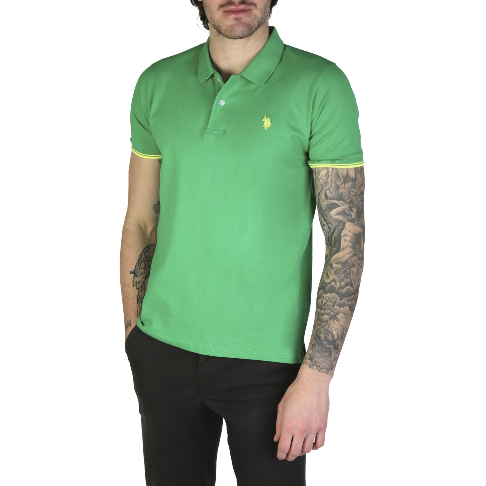 Chemises manches courtes  U.S. Polo 52432_41029 green