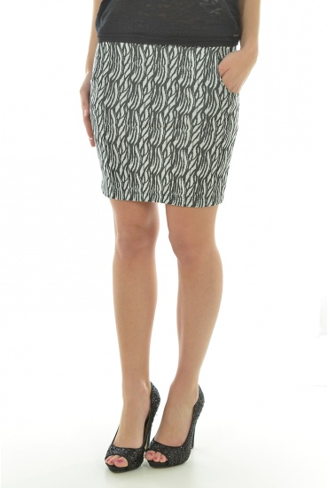 FEMME VERO MODA: WOOD SLIM SHORT SKIRT