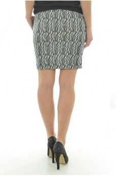 WOOD SLIM SHORT SKIRT - FEMME VERO MODA