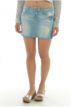 FEMME VERO MODA: CANDY LW DENIM MINI SKIRT BA294