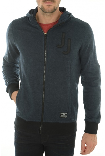 MARLON SWEAT ZIP HOOD - HOMME JACK AND JONES