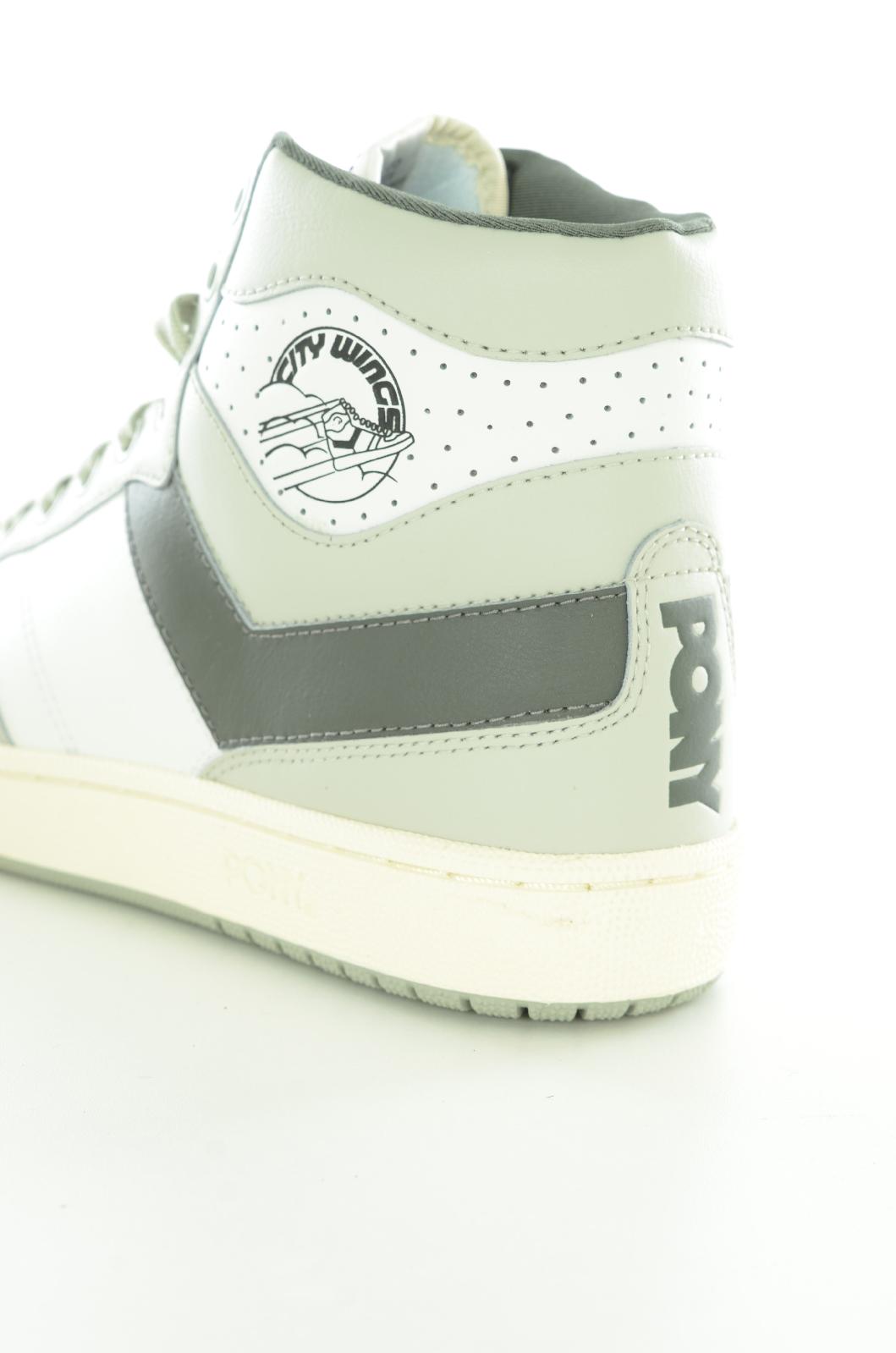 Chaussures   Pony CITY WINGS WHITE/DARK GREY