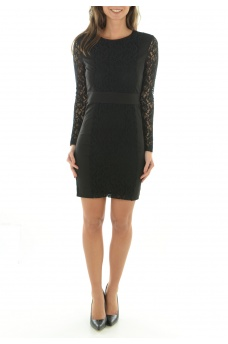 FEMME ONLY: CHLOE L/S SHORT DRESS WVN
