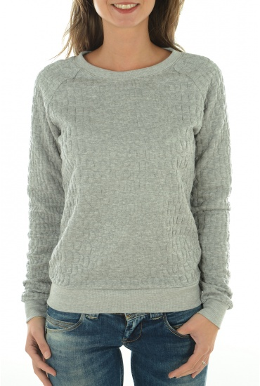 FEMME ONLY: HISS L/S QUILT O-NECK SWT