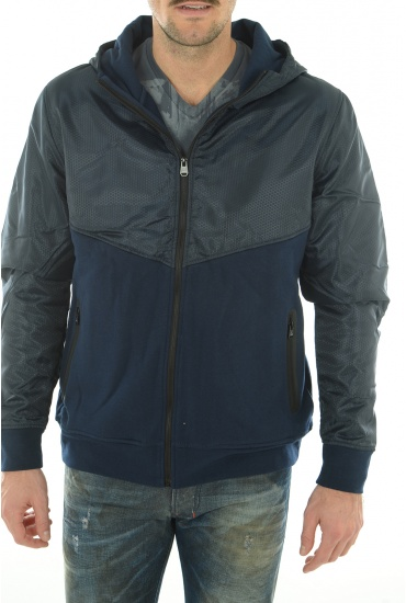 LINE SWEAT ZIP HOOD - HOMME JACK AND JONES