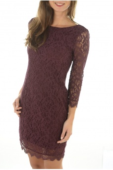 FEMME ONLY: PAULINE 4/5 LACE SHORT DRESS