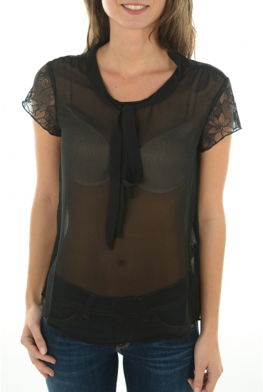 ROMANA BOW LACE S/L TOP - Soldes ONLY