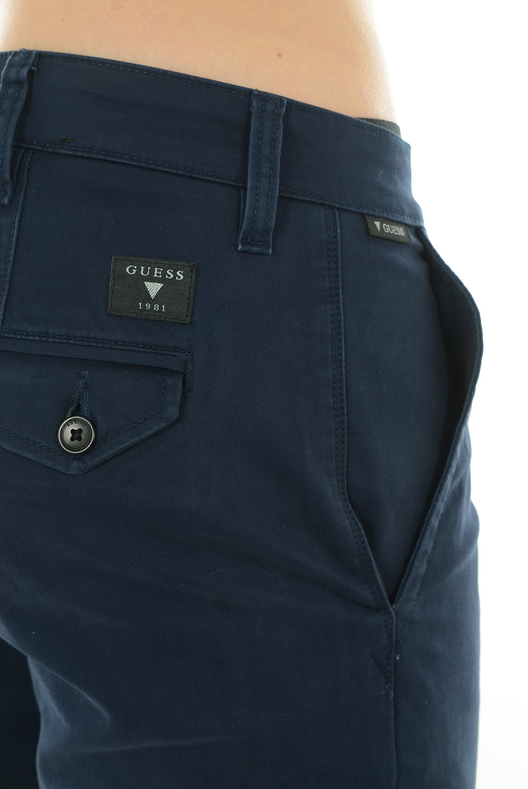 Pantalons chino/citadin  Guess jeans M44B00W5ZJ0 G720 BLEU