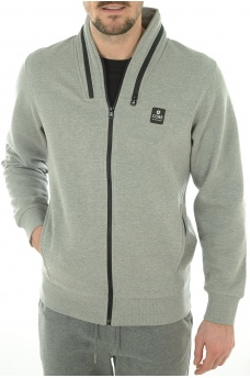 TROOPER SWEAT ZIP  HIGH NECK - HOMME JACK AND JONES