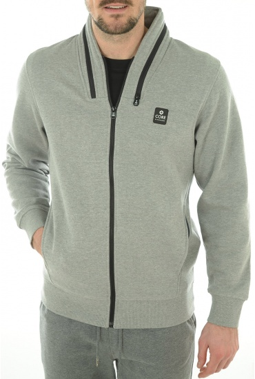 HOMME JACK AND JONES: TROOPER SWEAT ZIP  HIGH NECK