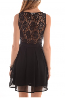 FEMME ONLY: MELTA S/L BACK LACE DRESS