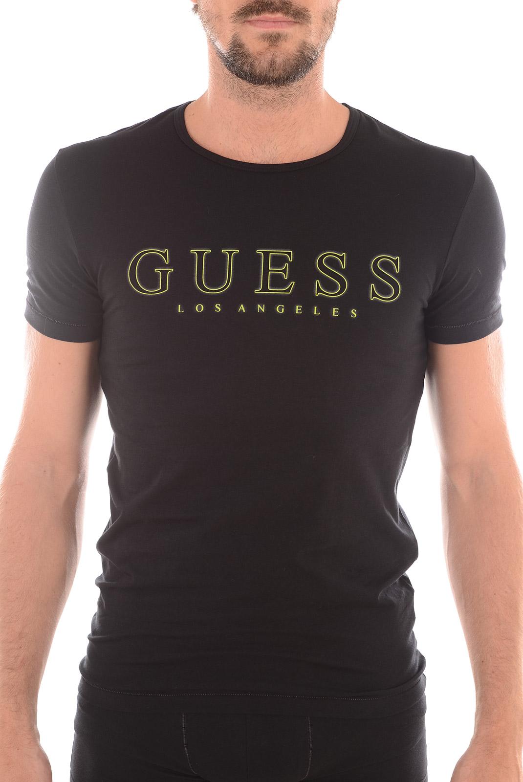 Tee-shirts  Guess jeans U52G10-JEL13 996 NOIR