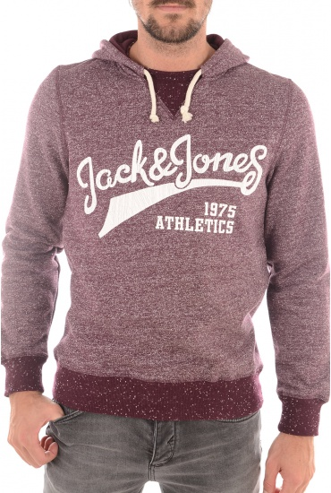HOMME JACK AND JONES: BROKE SWEAT HOOD  CAMP