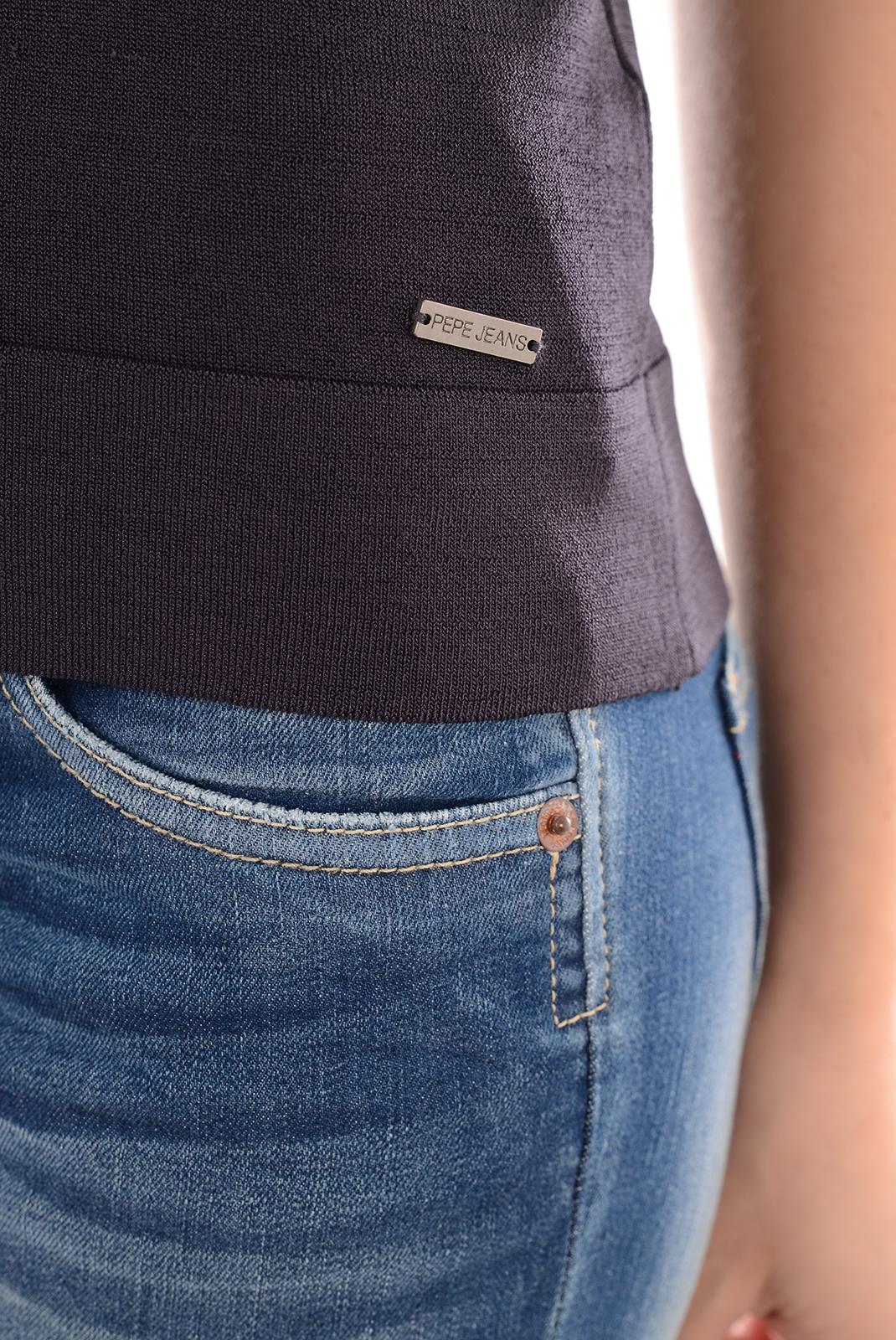 Tops & Tee shirts  Pepe jeans PL700905 LIRIO 493 PURPLE NOIR