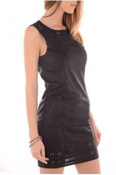 FEMME ONLY: ADORA FAUX SUEDE DRESS OTW