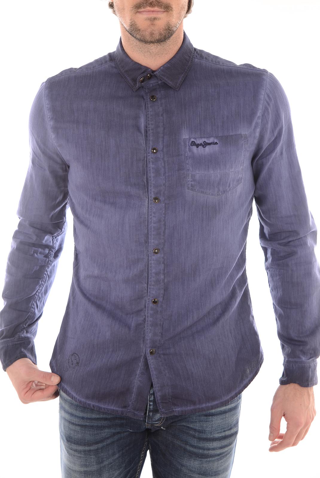 Chemises   Pepe jeans PM301955 BJORN 581 DK BLUE