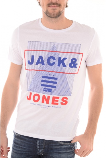 HOMME JACK AND JONES: MIX TEE SS CREW NECK CAMP