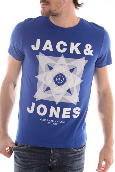 MIX TEE SS CREW NECK CAMP - HOMME JACK AND JONES