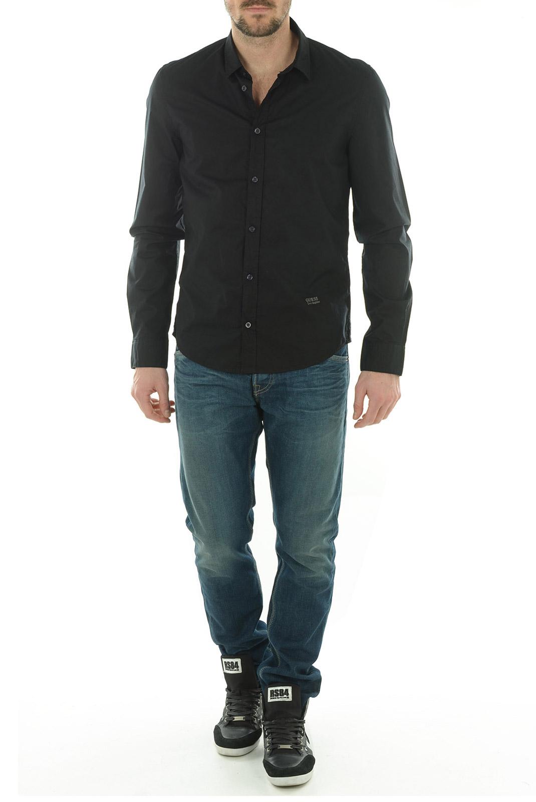Chemises   Guess jeans M44H77W5M40 996 NOIR