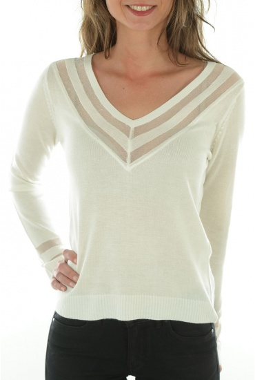 FEMME ONLY: SPORTY L/S PULLOVER KNT