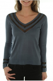 SPORTY L/S PULLOVER KNT - FEMME ONLY
