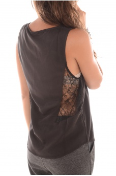 LOUISE S/L TOP WVN - FEMME ONLY